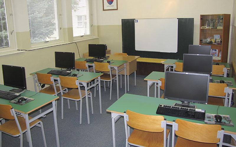 Počítačová učeňa v priestoroch Odborného učilišťa internátneho Viliama Gaňu